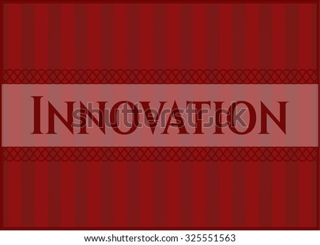 Innovation vintage style card or poster - stock vector