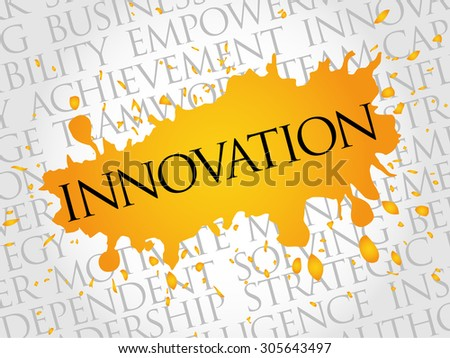 INNOVATION word cloud, business concept - stock vector