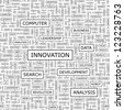 INNOVATION. Word collage. Seamless pattern. - stock vector