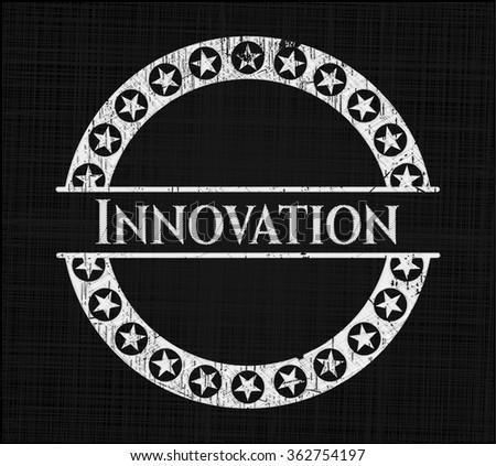 Innovation written on a blackboard - stock vector