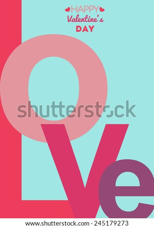 inscription love valentine - stock vector