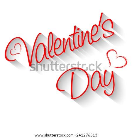 Inscription Valentine's Day Vector illustration - stock vector