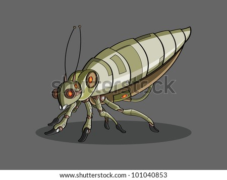 Insect cartoon - stock vector