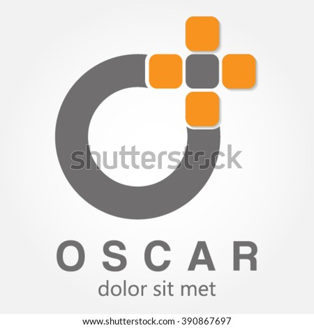 Inspiration company logo that is simple and elegant shape of the letter O - stock vector