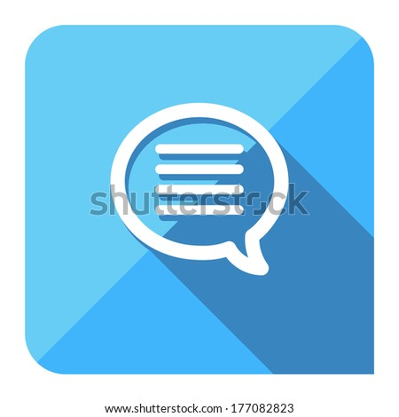 instant message chat icon. flat style. - stock vector
