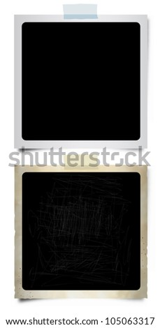 Instant Photo Frames - stock vector
