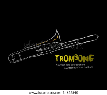 instruments collection -6 : Trombone - stock vector