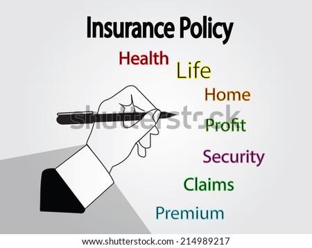 insurance concept,insurance vector,insurance policy vector - stock vector