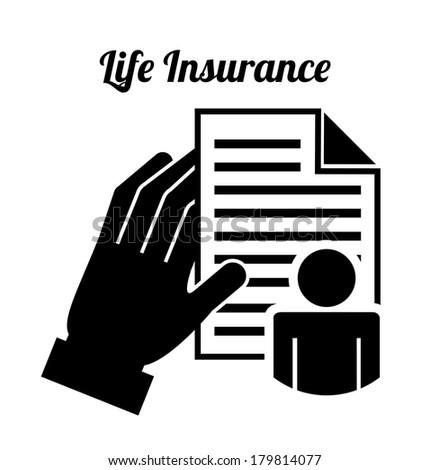 insurance design over  white background vector illustration - stock vector