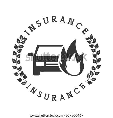 insurance icon design, vector illustration eps10 graphic  - stock vector