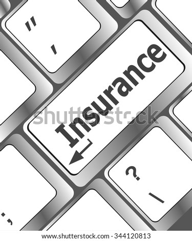 Insurance key in place of enter key vector illustration - stock vector