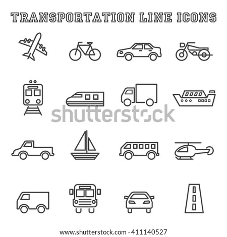 insurance minimal outline icons, vector pictogram set - stock vector