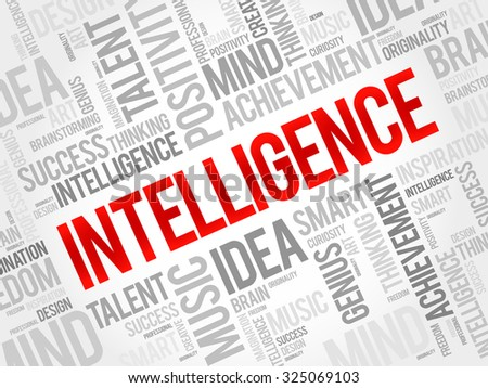 Intelligence word cloud, business concept - stock vector