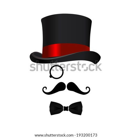 intelligent person with hat - stock vector