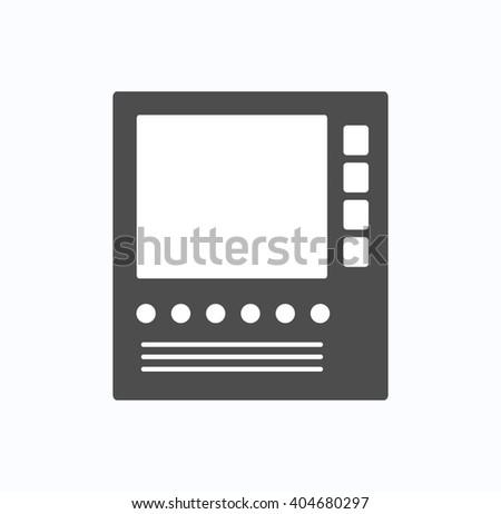 Intercom for communication icon - stock vector