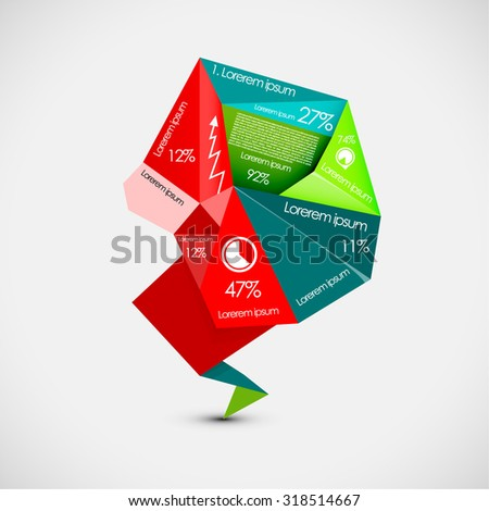 Interesting colorful infographic - stock vector