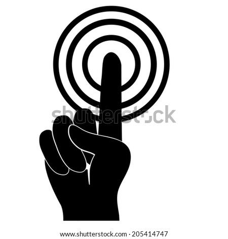 Interface Finger Touch Icon- Vector - stock vector