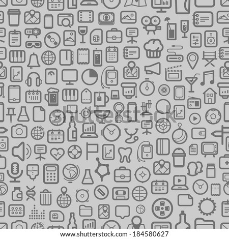 interface icons seamless background - stock vector
