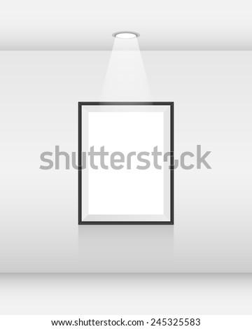 Interior art gallery - stock vector