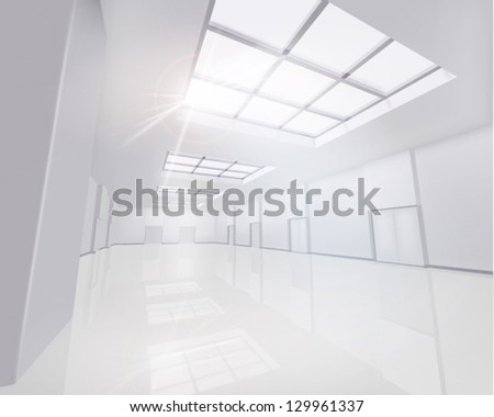Interior Business Center. Vector illustration. - stock vector