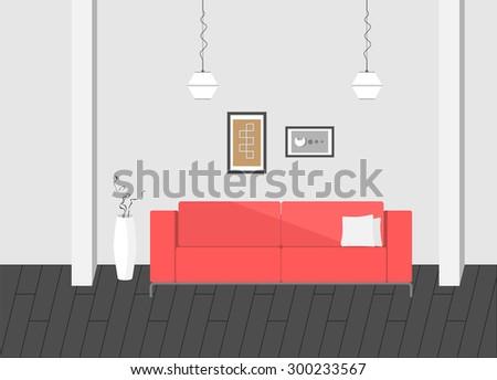 interior minimal - stock vector