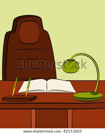 Interior of office for businesspeople. Vector - stock vector