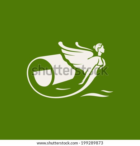 Interior wallpaper Branding Identity Corporate vector logo design template Isolated on a green background - stock vector