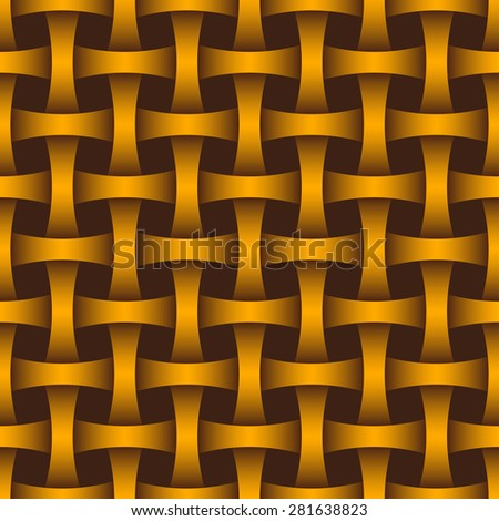 Interlacing seamless pattern for endless backgrounds, printings, textures and as part of other creative designs. Editable vector. Eps 10 - stock vector