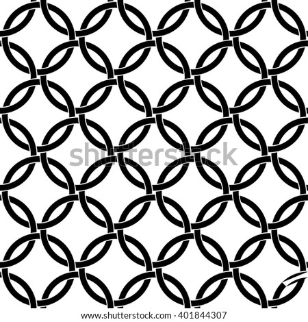 Interlocking circles pattern, Celtic knots background - stock vector