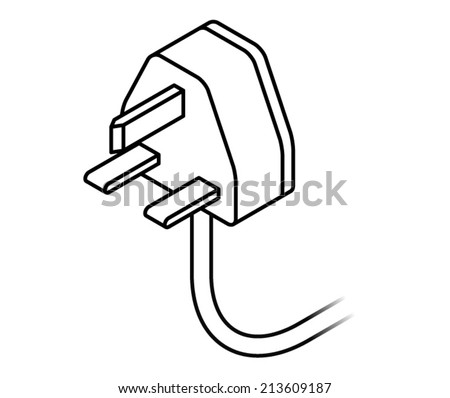 Power Plug Drawing International ac Power Plug