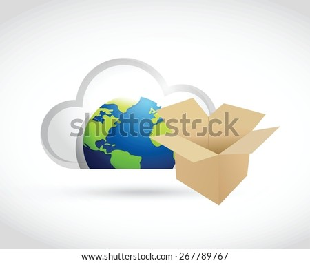 international cloud computing storage concept illustration design over white - stock vector