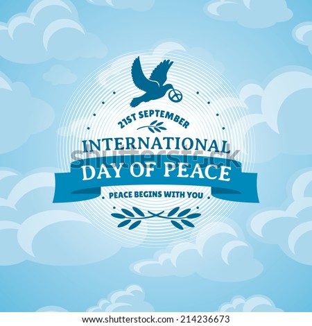 International Day of Peace vector illustration - stock vector