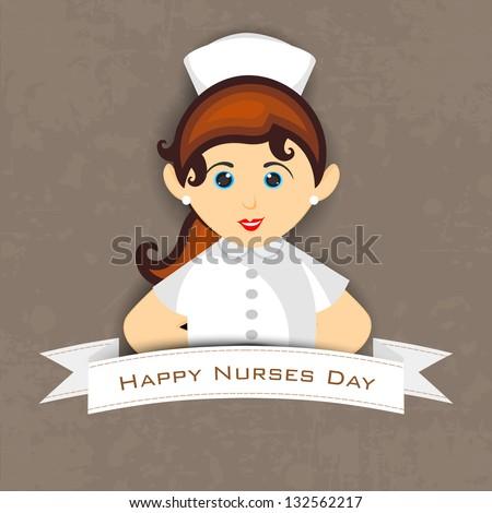 International nurse day concept with illustration of a beautiful nurse, - stock vector