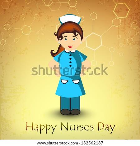 International nurse day concept with illustration of a nurse. - stock vector
