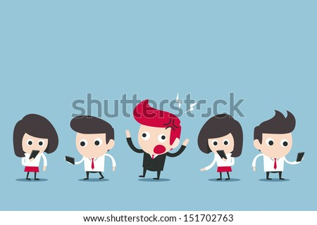 internet addict social, vector - stock vector