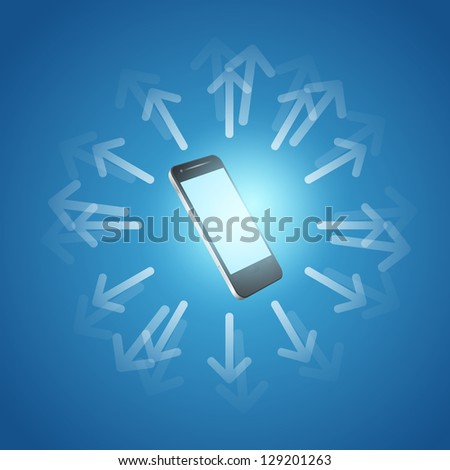 Internet and mobilephone concept symbol. EPS10 vector. - stock vector