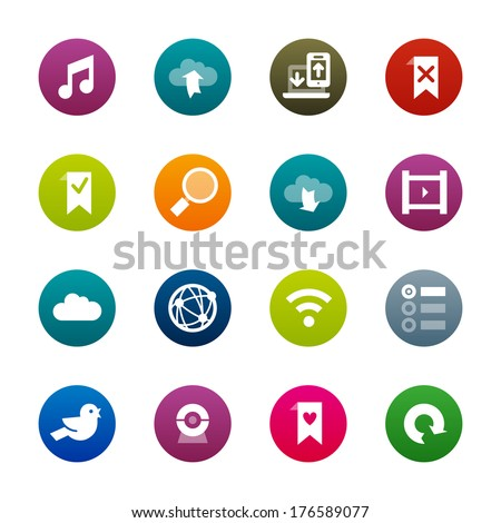 Internet and wedsites icons. Professional vector icons for your website, application and presentation. - stock vector