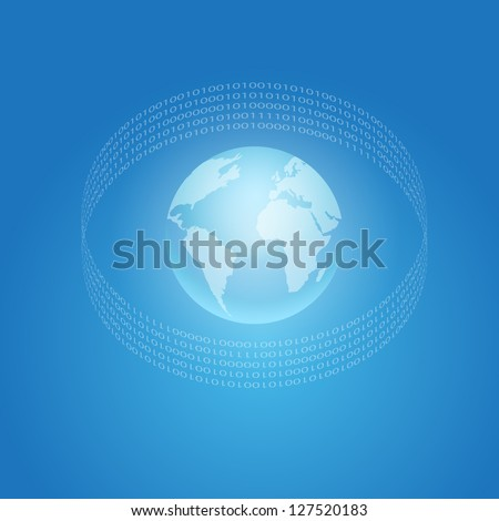 Internet and World concept symbol. EPS10 vector. - stock vector