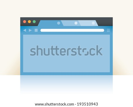 Internet browser window with copy space for you text - stock vector
