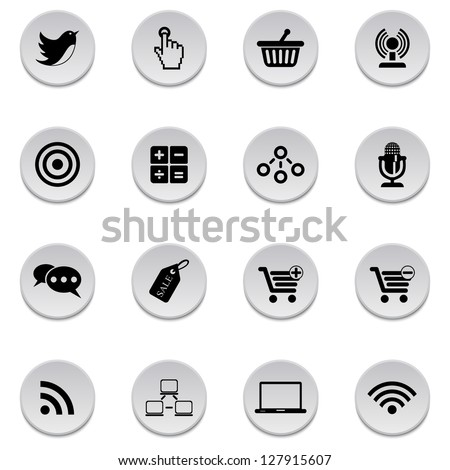Internet-business icons - stock vector