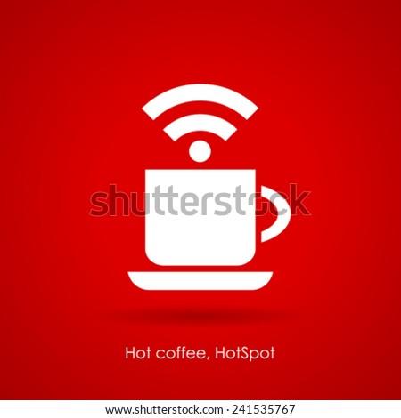 Internet cafe icon - stock vector