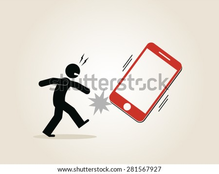 internet connection 4G wireless smartphone warranty - stock vector