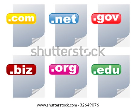 internet country code illustration - stock vector