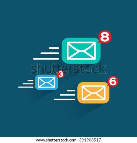 Internet e-mail icon. send Message, vector design - stock vector