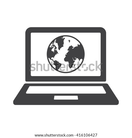 Internet Icon Vector Illustration on the white background. - stock vector