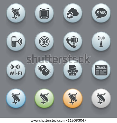 Internet icons for web site, set 5. - stock vector