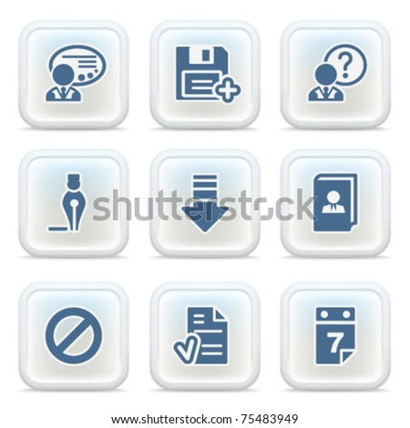 Internet icons on buttons 2 - stock vector