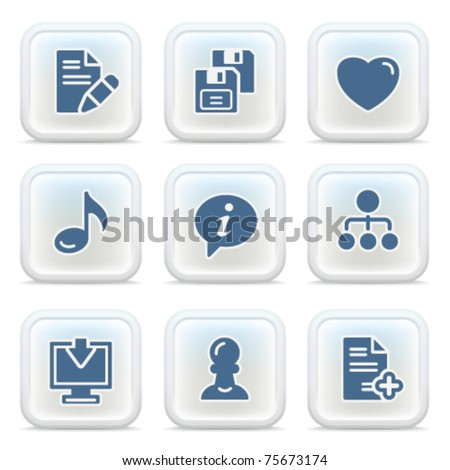 Internet icons on buttons 10 - stock vector