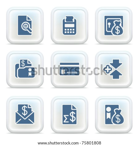 Internet icons on buttons 14 - stock vector