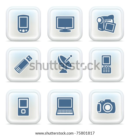 Internet icons on buttons 16 - stock vector